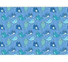 Narwhal Pattern Photographic Print