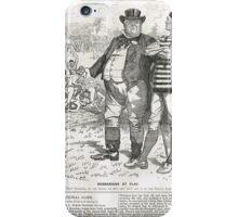 John Bull Brutal Rugby satire Punch 1888 iPhone Case/Skin