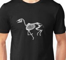 Running skeleton horse Unisex T-Shirt