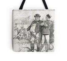 John Bull Brutal Rugby satire Punch 1888 Tote Bag