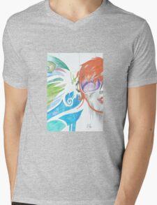 Abstract Pop Art Music Mens V-Neck T-Shirt