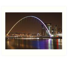 Millenium Bridge & Baltic Art Print