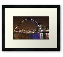 Millenium Bridge & Baltic Framed Print