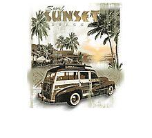 SURF SUNSET Photographic Print