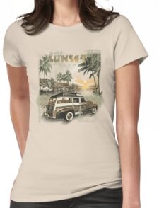 SURF SUNSET Womens Fitted T-Shirt