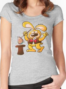 Magician Easter Bunny Women's Fitted Scoop T-Shirt