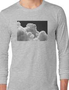 Black And white Sky With Thunderstorm Clouds Long Sleeve T-Shirt