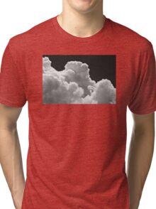 Black And white Sky With Thunderstorm Clouds Tri-blend T-Shirt
