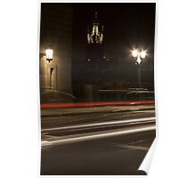 St Nicholas' Cathdral by Night Poster