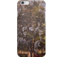 Ghosts Of War (in grainy marble) iPhone Case/Skin