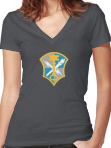 United States Army Intelligence and Security Command Women's Fitted V-Neck T-Shirt