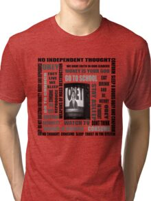 THEY LIVE subliminal messaging Tri-blend T-Shirt