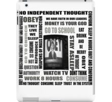 THEY LIVE subliminal messaging iPad Case/Skin