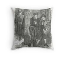 Jack the Ripper Punch Cartoon Whitechapel 1888 Throw Pillow