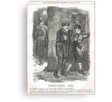 Jack the Ripper Punch Cartoon Whitechapel 1888 Canvas Print