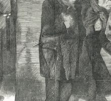 Jack the Ripper Punch Cartoon Whitechapel 1888 Sticker