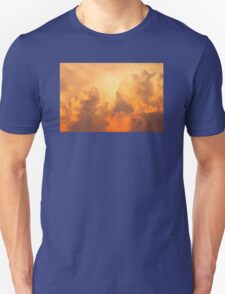 Colorful Orange Yellow Storm Clouds At Sunset T-Shirt