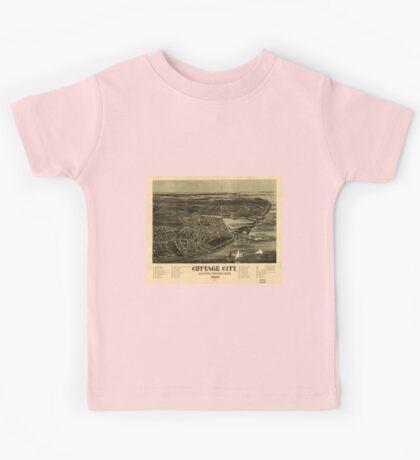 Panoramic Maps Cottage City Martha's Vineyard Mass 1890 Kids Tee