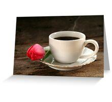 Tulip and Coffee Greeting Card
