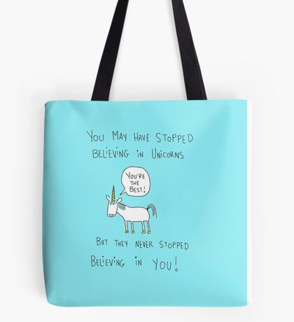 Believing in Unicorns Tote Bag