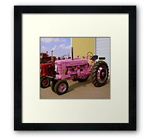 Pulling For The Cure Framed Print