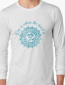Om is where the heart is Mandala Long Sleeve T-Shirt