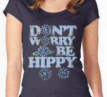 Don't worry be hippy Women's Fitted Scoop T-Shirt