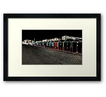 Huts @ night Framed Print