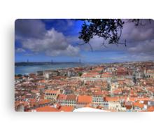 View over Lisbon from Saint George Castle Canvas Print