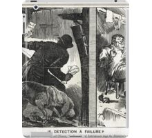 Jack the Ripper Punch Cartoon is Detection a failure? 1888 iPad Case/Skin