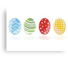 4 easter eggs Canvas Print