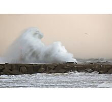 Scheveningen storm Photographic Print
