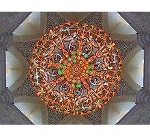 Chandelier in Sheikh Zayed Grand Mosque, Abu Dhabi, UAE. Photographic Print