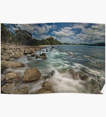 Hotwater Beach Rocks Poster