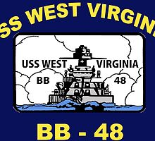 USS West Virginia (BB-48) Crest for Dark Colors by Spacestuffplus