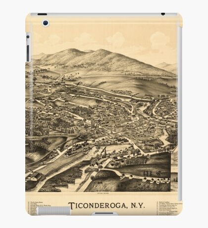 Panoramic Maps Ticonderoga NY iPad Case/Skin