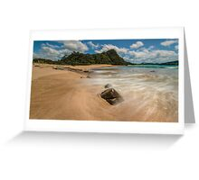 Hot Sands, Hot Water Beach Greeting Card