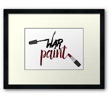 War Paint - makeup drawing Framed Print