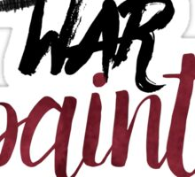 War Paint - makeup drawing Sticker