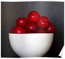Bowl of Plums Poster