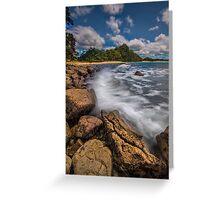 Hot Water Beach Driftline Greeting Card