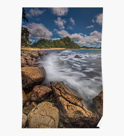 Hot Water Beach Driftline Poster