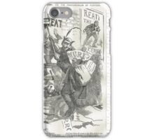 Jack the Ripper Punch Cartoon The pandemonium of posters  1888 iPhone Case/Skin