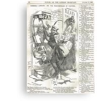 Jack the Ripper Punch Cartoon The pandemonium of posters  1888 Canvas Print