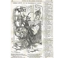 Jack the Ripper Punch Cartoon The pandemonium of posters  1888 Photographic Print