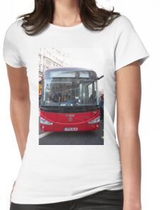 London Bus Irizar 12E auto electric bus in Regent Street London Womens Fitted T-Shirt