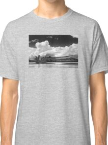 Black And white Vienna Maine Flying Pond With Storm Clouds Classic T-Shirt