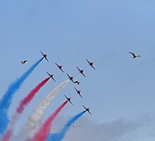 The red arrows display at Air Bourne in Eastbourne by Keith Larby