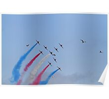The red arrows display at Air Bourne in Eastbourne Poster