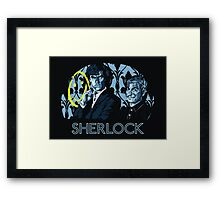 Sherlock - A Study in Blue Framed Print